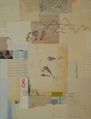mixed media collage on canvas - cm.45x35- 2011