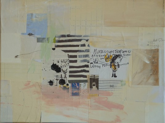 mixed media collage on canvas - 2011