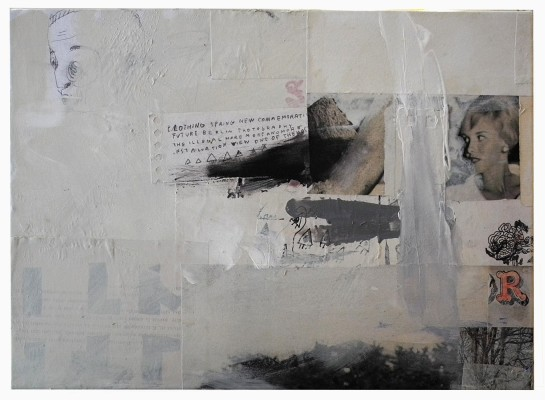 mixed media collage on canvas - 25x35 cm. - 2014 sold out