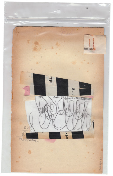 mixed media collage on paper – 20×12 cm. 2013