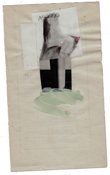 mixed media collage on book cover – 15×21 cm. 2013