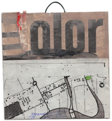 mixed media collage on paper – 12×12 cm. 2013